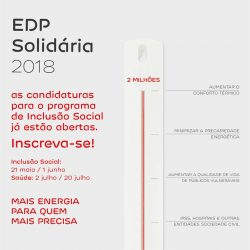 Abertura Candidaturas Programa EDP Solidária – 2018