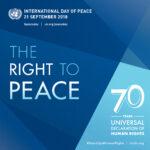 Dia Internacional da Paz: 70 anos da Declaração Universal dos Direitos Humanos