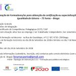 Formação de Formadores/as em Igualdade de Género | Braga