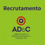 Agência para o Desenvolvimento e Coesão está a recrutar dois Técnicos Superiores (m/f)